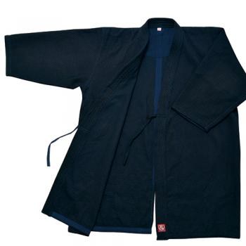 【松勘工業】冠 実戦型剣道衣 武州正藍染 背継一重 KG-150K