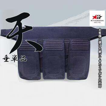 【ミツボシ】『天』 ベーシック6mm織刺 ヘリ紺革仕立
