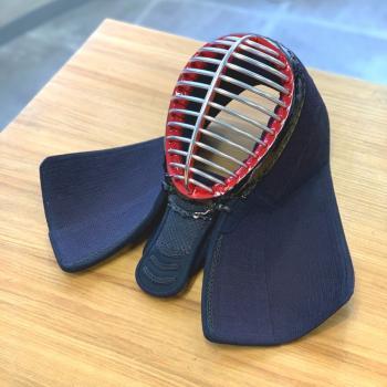 【西日本武道具】頂(黒) 6mm刺 面単品